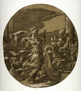 Circe, after Ugo da Carpi's chiaroscuro woodcut print after Parmigianino