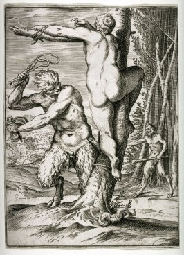 Satyr Flogging a Nymph
