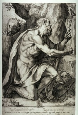 St Jerome Praying next to a Tree