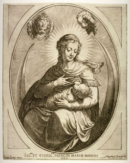 Madonna and Child Seated on a Crescent Moon