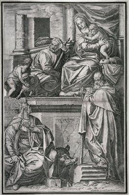 Holy Family with SS. Catherine and Anthony Abbot, after the altarpiece by Veronese for S. Francesco della Vigna, Venice