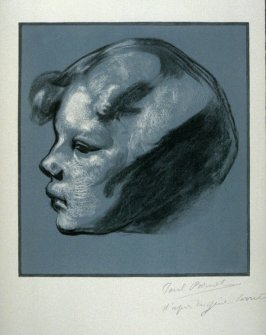 [Head of a Child] from the portfolio Les Cartons d'estampes gravées sur bois, oeuvrage corporative (Portfolio of wood engravings after works of various French artists)