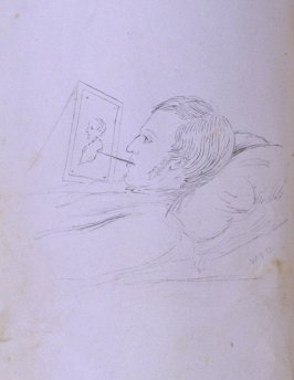 Portrait of John Carter at Work, frontispiece in the book The Life of John Carter by Frederick James Mills (New York: Hurd and Houghton, 1868)