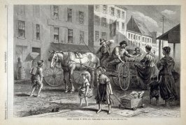 Street Vendors of Fruit and Vegetables - from Harper's Weekly,  (September 22, 1877), p. 794