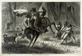 Indian Boys Breaking a Pony - p.377 Harper's Weekly 2 May 1874