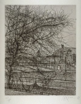 Untitled (tree and corner of the Grand Palais)