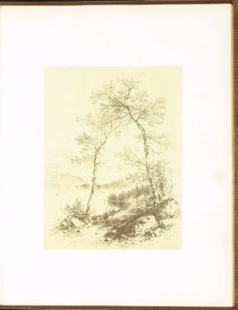 The Lake, accompanied by verses by Alfred B. Street, fifth plate in the book Autograph Etchings by American Artists (New York: W. A. Townsend & Company, 1859)