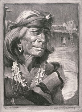 Zuni Indian, one of the wise men of the Pueblo of Zuni