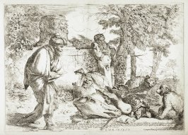 The Philosopher Diogenes Searching for an Honest Man