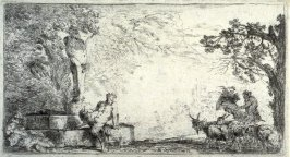 A Satyr Seated Beside a Statue of Priapus (Satyr Seated at the Foot of a Term)