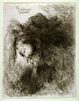 Old Man Wearing a Fur Cap, Facing Left, from the series Small Studies of Heads in Oriental Headdress