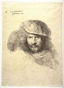 Portrait of a Man with Beard and Mustache, Wearing a Cap with Large Plume (Portrait of G.L. Bernini?)