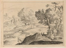 Landscape with a Mounted Figure Emerging from Behind a Hill, no. 89 from the Cabinet du Roi