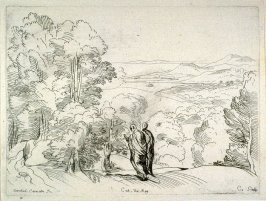 Landscape with Two Robed Men, from the Cabinet du Roi