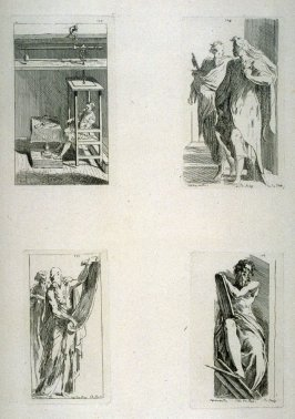 Dining Man Being Weighed; Study of Two Apostles; Study of Two Apostles; Moses Holding the Ten Commandments; from the Cabinet du Roi