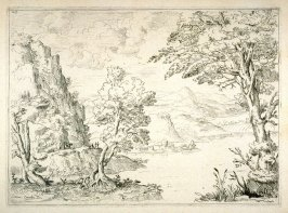 Landscape with a River and Small Figures, from the Cabinet du Roi