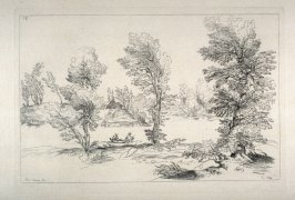 Landscape with Trees along a Riverbank, from the Cabinet du Roi