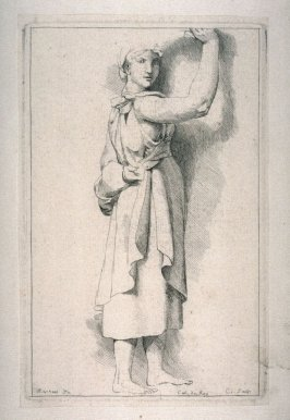 Study of a Female Figure with Raised Arm, from the Cabinet du Roi