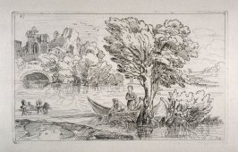 Riverscape with Figures in a Boat, no. 43 from the Cabinet du Roi