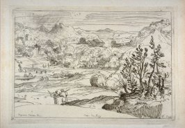 Mountainous Landscape with Two Travelers, from the Cabinet du Roi