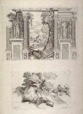 Landscape seen through Ruins; Landscape with a Distant Village; from the Cabinet du Roi
