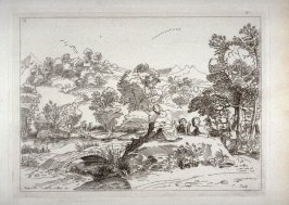 Landscape with a Bridge and Three Men Conversing, from the Cabinet du Roi