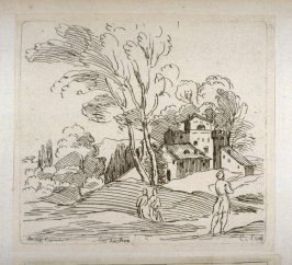 Landscape with a House and Three Figures, from the Cabinet du Roi