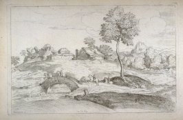 Landscape with a Stone Bridge, from the Cabinet du Roi