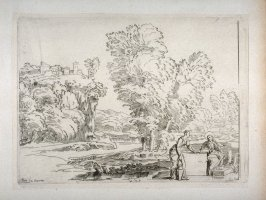 Landscape with Christ and the Woman of Samaria, from the Cabinet du Roi