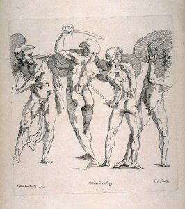 Four Gladiators, from the Cabinet du Roi