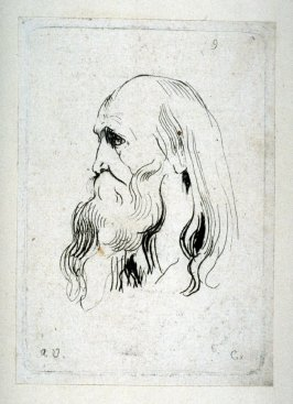 Profile of an Old Bearded Man, no. 9 from Recueil de Testes d'Antoine Van Dyck