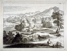 Pastoral Landscape with Two Figures, from the Cabinet du Roi