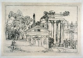 Landscape with a colonnade and a Temple, from the Cabinet du Roi