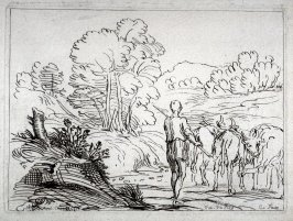 Landscape with a Herdsman and Three Cows, from the Cabinet du Roi