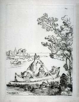 Boats on a River, from the Cabinet du Roi
