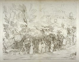 Wedding Party Approaches the City, no. 127 from the Cabinet du Roi