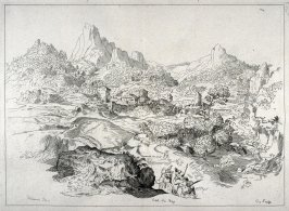 Mountainous Landscape with a Village, no. 142 from the Cabinet du Roi
