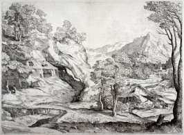 Mountainous Landscape with a River and a Village, from the Cabinet du Roi