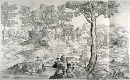 Landscape with a Man on a Footbridge, from the Cabinet du Roi