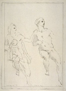 Study of Three Nude Figures, from the Cabinet du Roi