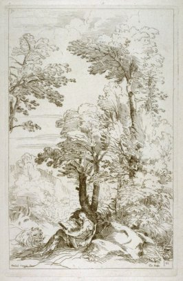 Saint Jerome Reading in a Landscape, no. 30 from the Cabinet du Roi