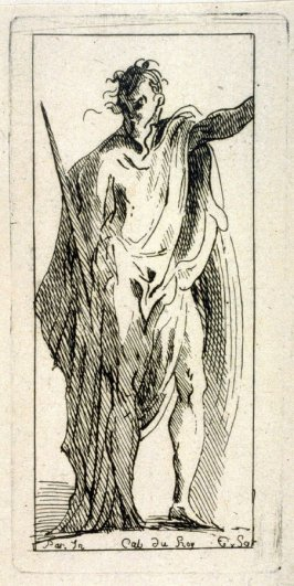 Draped Male Figure with a Sword, from the Cabinet du Roi