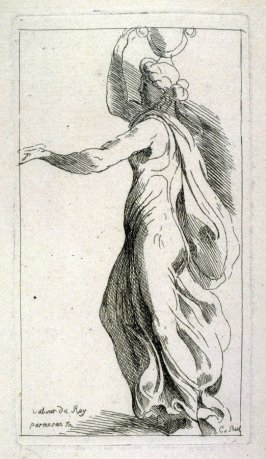 Woman in Classical Robe with an Urn on her Head, from the Cabinet du Roi