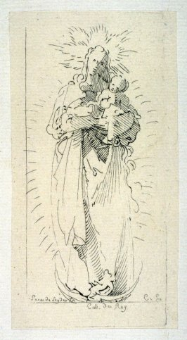 Virgin and Child on Crescent Moon, from the Cabinet du Roi