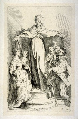 A Group Paying Tribute to the Virgin, from the Cabinet du Roi