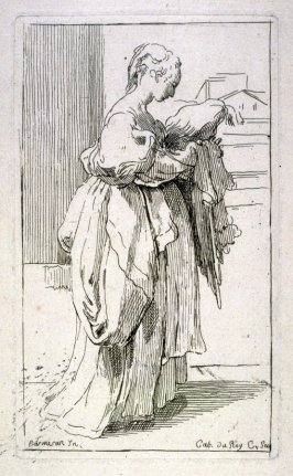 Woman Holding a Cushion, from the Cabinet du Roi