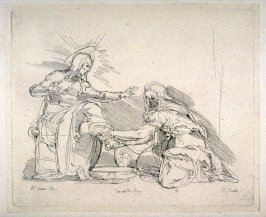 Mary Magdalen Washing Christ's Feet, from the Cabinet du Roi
