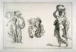 Studies of Three Figures, no. 39 from the Cabinet du Roi