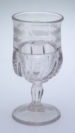 Wine glass York Herringbone or Scalloped Swirl