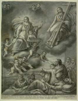COPIA DEL CUADRO ORIGINAL...(Copy of the painting carried in procession...28 May 1849...to celebrate the establishment of the Order of the Immaculate Heart of Mary...)